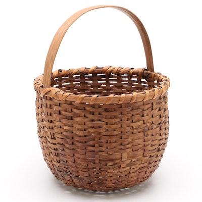 American Splint Woven Basket, Early 20th Century