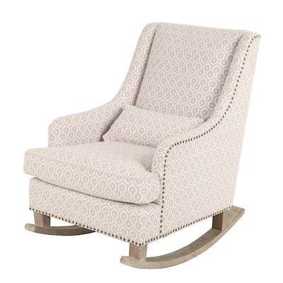 Pottery Barn Rocking Chair with Geometric Woven Upholstery