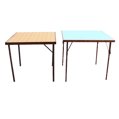 Wooden Card Tables, Late 20th Century