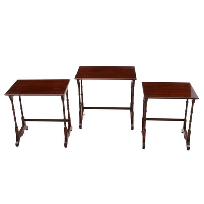 "Ethan Allen ""Georgian Court"" Cherry Nesting Tables, Late 20th Century"