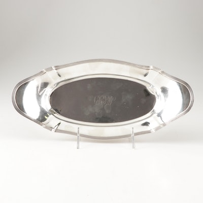 """Gorham Sterling Silver """"Plymouth"""" Bread Tray, Early 20th Century"""