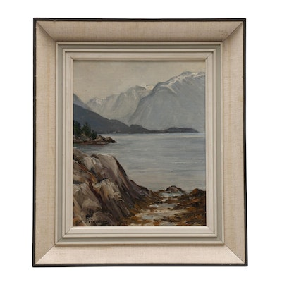 Early 20th Century Seascape Oil Painting