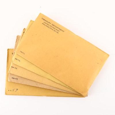 1957, 1958, 1959, 1961 and 1962 U.S. Mint Proof Sets