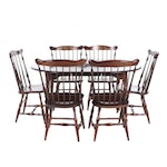 Hitchcock Stenciled Maple Dining Set, Contemporary