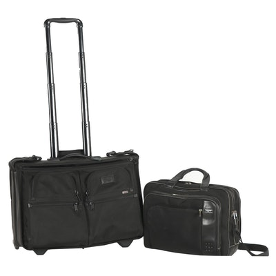Tumi Black Nylon Briefcases and Carry-On Bags