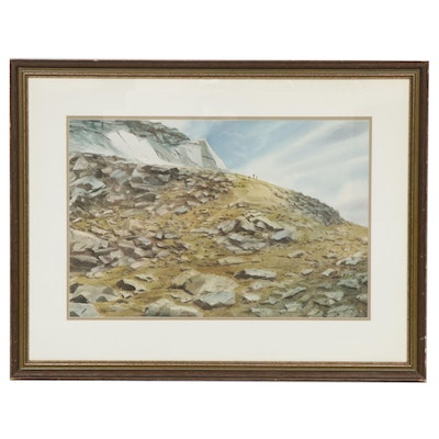 Alexander Rocky Landscape Watercolor Painting