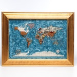Inlaid Stone Map of The World