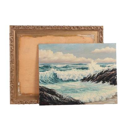 Alan Ferris Jr. Seascape Oil Painting