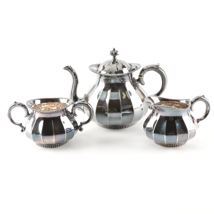 Meriden Company Silver Plated Tea Set