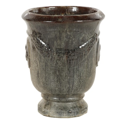Large Outdoor Glazed Ceramic Planter