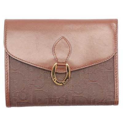 Christian Dior Paris Monogram  Brown Leather Wallet