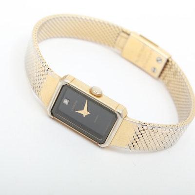 Seiko Lassale Ladies Diamond Black Dial Quartz Watch