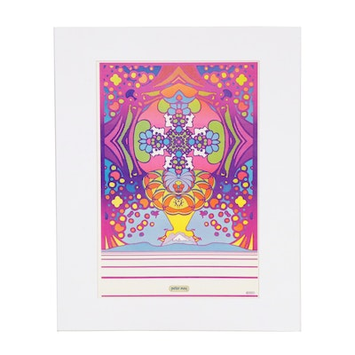 "Peter Max Offset Print ""2000 Light Years"""