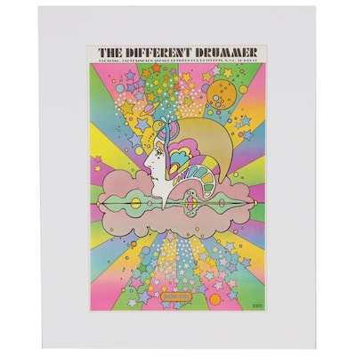 "Peter Max Offset Print ""The Different Drummer"""