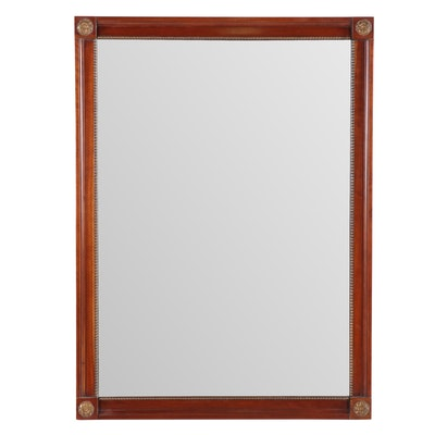 Federal Style Fruitwood Mirror, Late 20th Century