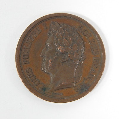 1842 France Louis Philippe I Commemorative Medal