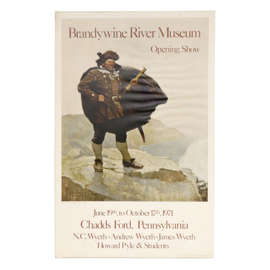N.C. Wyeth 1971 Brandywine River Museum Opening Show Poster