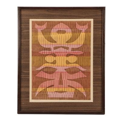 "John Nartker Artist's Proof Serigraph ""Totem"""