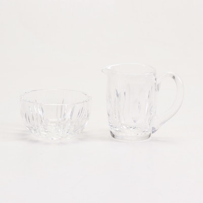"Waterford Crystal ""Giftware"" Creamer and Sugar Bowl"