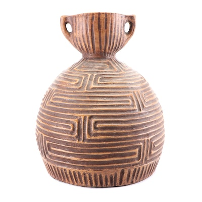 Terracotta Handled Floor Vase