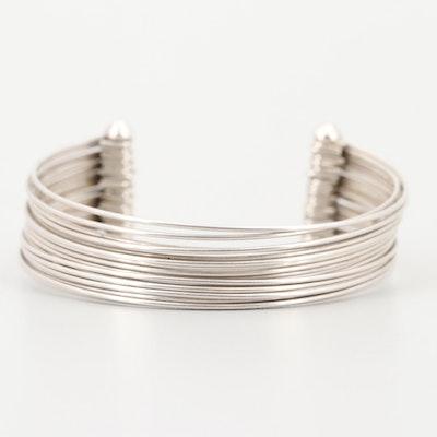 Sterling Silver Multi-Wire Cuff Bracelet
