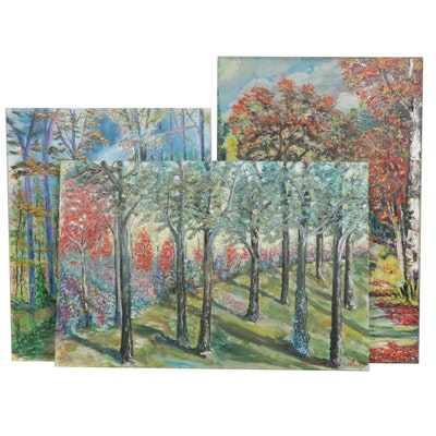 Leszek Pilarski Impressionist Style Landscape Paintings