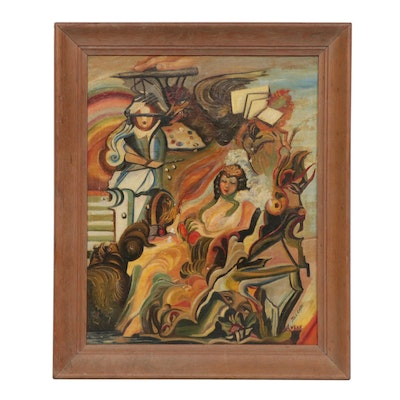 Early 20th Century Fauvist Style Oil Painting