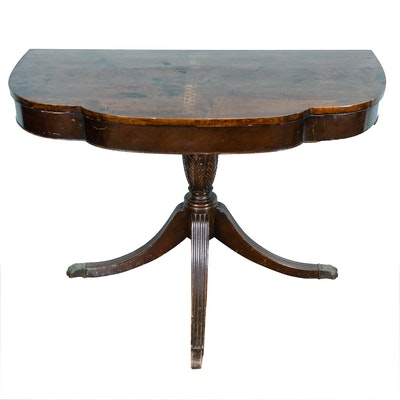 Classical Style Mahogany and Mahogany-Stained Side Table