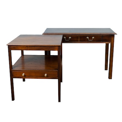 Two George III Style Side Tables, Including Lane, 20th Century