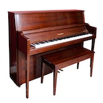 Cable-Nelson Walnut Upright Piano and Bench by Yamaha