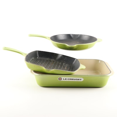 Le Creuset Palm Green Enameled Cast Iron Cookware