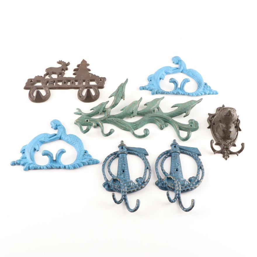 Decorative Cast Metal Wall Hooks