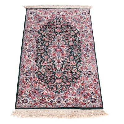 Hand-Knotted Sino-Persian Kashan Wool Rug