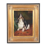Tricolor English Springer Spaniel Oil Painting