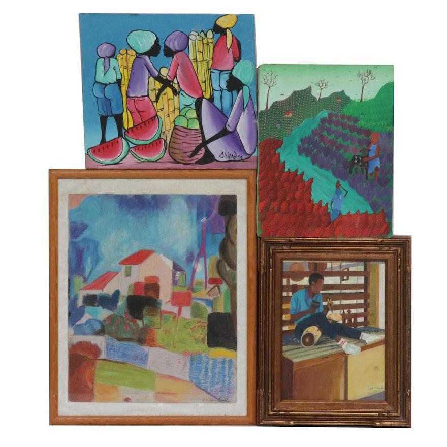 Caribbean Folk Art Paintings and Drawing