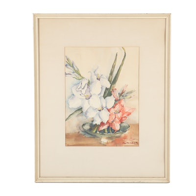 Myrtle Schwarts Floral Still Life Watercolor Painting