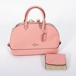 Coach Pink Leather Handbag and Wallet