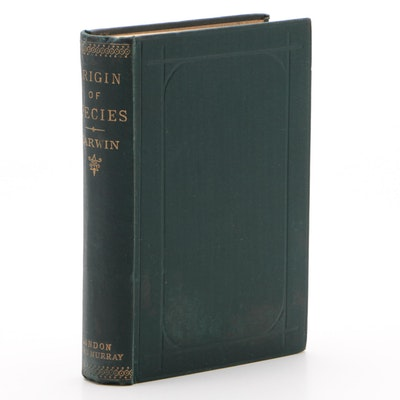 "1895 Sixth Edition ""The Origin of Species"" by Charles Darwin,"