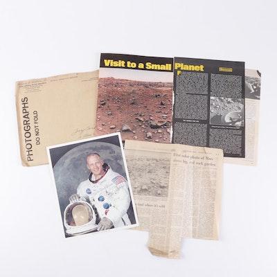 Buzz Aldrin Signed Astronaut Photograph