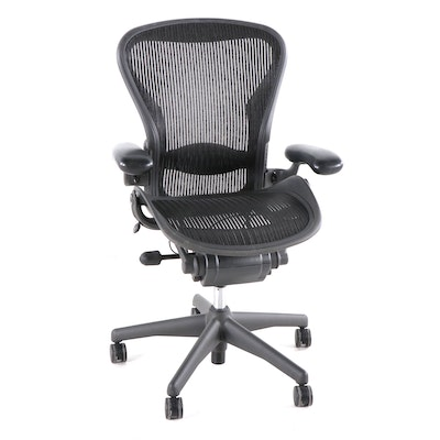 "Herman Miller ""Aeron"" Black Swivel Office Chair"