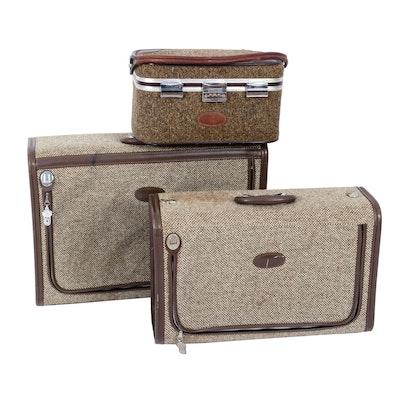 Vintage Tweed Luggage Pieces