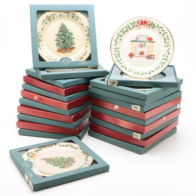 """Lenox """"Trees Around the World"""" and """"Holiday Annual Christmas"""" Collector Plates"""