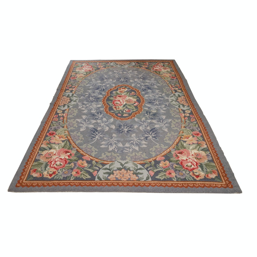 "MER Carpets Hand-Hooked ""Savannah Petit Point"" Wool Area Rug"