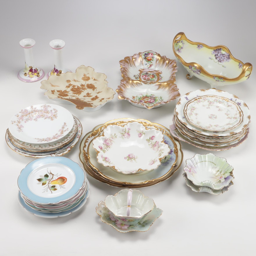 Floral Motif Porcelain and Bone China Tableware Featuring