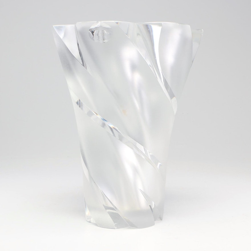 "Lalique ""Narcisse"" Frosted Crystal Vase"