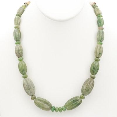 Sterling Silver Serpentine Beaded Adjustable Necklace