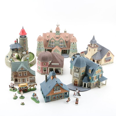 "Department 56 First and Limited Edition ""Seasons Bay"" Buildings and Figures"