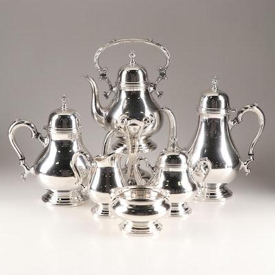 Fine Arts De Luxe Silver Plate 7-Piece Coffee and Tea Service