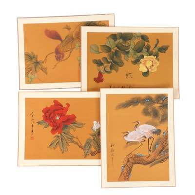 Chinese Gouache on Silk Paintings