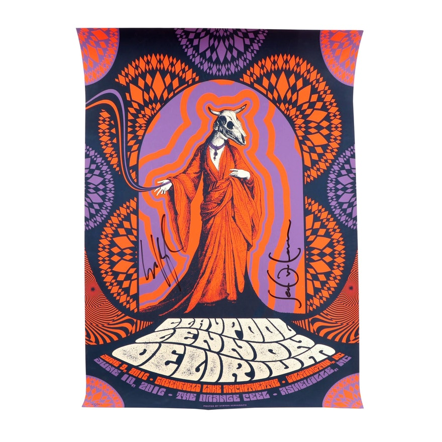 Claypool Lennon Delerium Concert Poster Signed by Claypool and Lennon